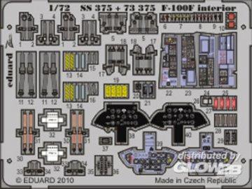 F-100F - Interior S.A. [Trumpeter] · EDU SS375 ·  Eduard · 1:72