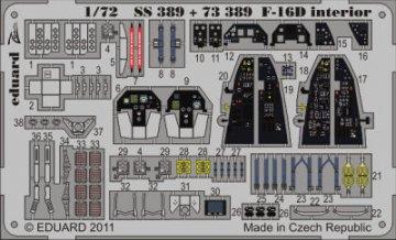 F-16D - Interior S.A. [Kinetic] · EDU SS389 ·  Eduard · 1:72