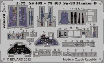 Su-33 Flanker D S.A. [Hasegawa] · EDU SS403 ·  Eduard · 1:72