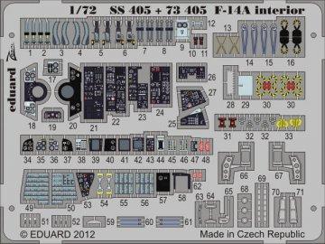F-14A - Interior S.A. [HobbyBoss] · EDU SS405 ·  Eduard · 1:72
