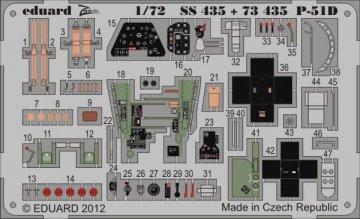 P-51D S.A. [Italeri] · EDU SS435 ·  Eduard · 1:72