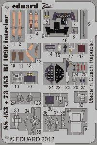 Messerschmitt Bf 109 E - Interior S.A. [Airfix] · EDU SS453 ·  Eduard · 1:72