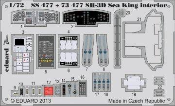 SH-3D Sea King - Interior S.A.[Dragon-Cyberhobby] · EDU SS477 ·  Eduard · 1:72