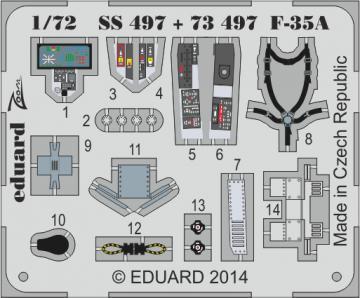 F-35A Lightning II - Interior S.A. [Italeri] · EDU SS497 ·  Eduard · 1:72