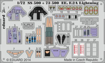 English Electric Lightning F2A - Interior S.A. [Airfix] · EDU SS500 ·  Eduard · 1:72