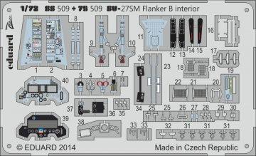 SU-27SM Flanker B - Interior S.A. [Zvezda] · EDU SS509 ·  Eduard · 1:72