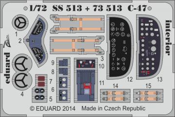 Douglas C-47 A/D Skytrain - Interior [Airfix] · EDU SS513 ·  Eduard · 1:72
