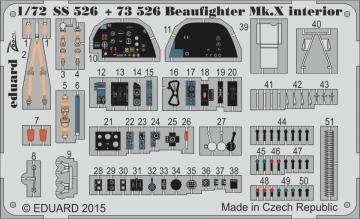 Beaufighter Mk.X interior [Airfix] · EDU SS526 ·  Eduard · 1:72