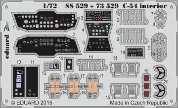 C-54 Skymaster - Interior S.A. [Revell] · EDU SS529 ·  Eduard · 1:72