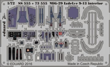 MiG-29 Izdelye 9-13 - Interior [Zvezda] · EDU SS555 ·  Eduard · 1:72