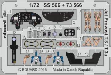 BAC Jet Provost T.3/T.3a [Airfix] · EDU SS566 ·  Eduard · 1:72