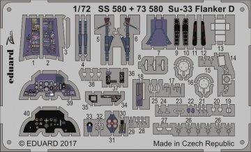 Su-33 Flanker D [Zvezda] · EDU SS580 ·  Eduard · 1:72