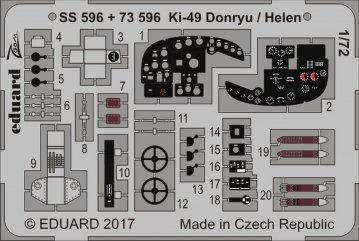 Nakajima KI 49II Koh, Type 100, Helen [Hasegawa] · EDU SS596 ·  Eduard · 1:72