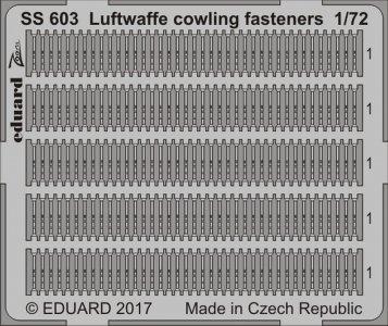 Luftwaffe - Cowling fasteners · EDU SS603 ·  Eduard · 1:72