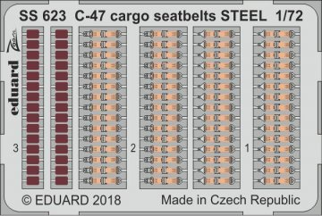C-47D Skytrain - Cargo - Seatbelts STEEL [HobbyBoss] · EDU SS623 ·  Eduard · 1:72