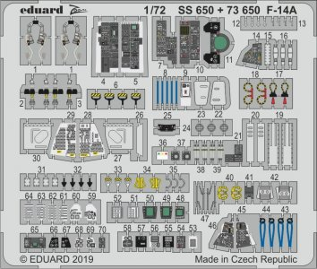F-14A [Fine Molds] · EDU SS650 ·  Eduard · 1:72