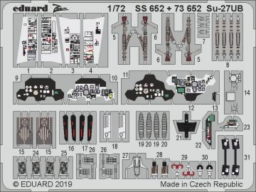 Sukhoi SU-27 UB Flanker-C [Zvezda] · EDU SS652 ·  Eduard · 1:72