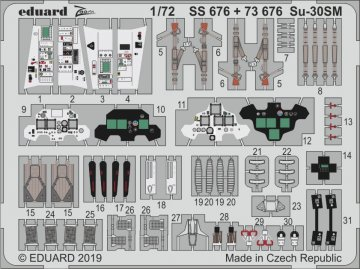 Su-30SM [Zvezda] · EDU SS676 ·  Eduard · 1:72