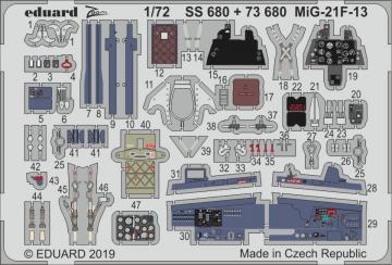 MiG-21F-13 [Modelsvit] · EDU SS680 ·  Eduard · 1:72