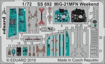 MiG-21MFN - Weekend Edition [Eduard] · EDU SS692 ·  Eduard · 1:72