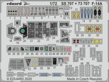 F-14A Tomcat [Academy] · EDU SS707 ·  Eduard · 1:72