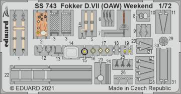 Fokker D.VII (OAW) - Weekend [Eduard] · EDU SS743 ·  Eduard · 1:72