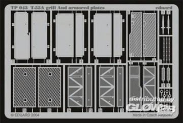 T-55A - Grill and armored Plates · EDU TP043 ·  Eduard · 1:35