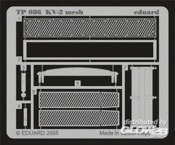 KV-2 mesh für Trumpeter Bausatz · EDU TP086 ·  Eduard · 1:35