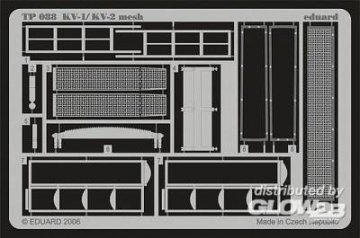 KV-1/KV-2 mesh early [Trumpeter] · EDU TP088 ·  Eduard · 1:35
