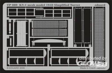 KV-1 mesh Simplified turret [Trumpeter] · EDU TP089 ·  Eduard · 1:35