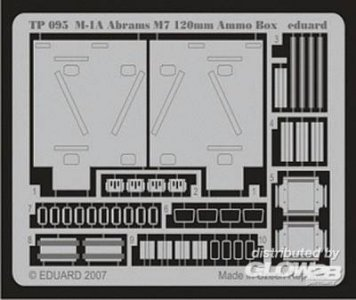 M-1A Abrams M7 120mm Ammo. Box · EDU TP095 ·  Eduard · 1:35