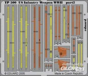 US Infantry Weapon WWII für Tamiya Bausatz · EDU TP500 ·  Eduard · 1:35