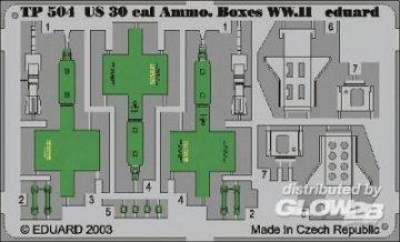 US 30 cal Ammo Boxes WW.II · EDU TP504 ·  Eduard · 1:35