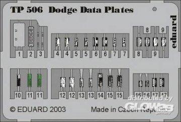 Dodge Data Plates · EDU TP506 ·  Eduard · 1:35