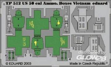 US 50 cal. Ammo. Boxes Vietnam · EDU TP512 ·  Eduard · 1:35