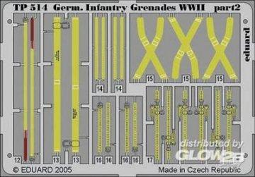 German Infantry Grenades WWII · EDU TP514 ·  Eduard · 1:35