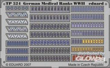 German Medical Ranks WWII · EDU TP524 ·  Eduard · 1:35