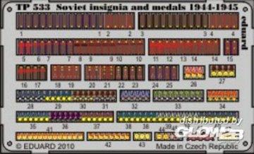Soviet insignia 1944 and medals · EDU TP533 ·  Eduard · 1:35