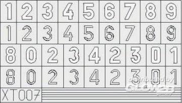German Number small · EDU XT007 ·  Eduard · 1:35