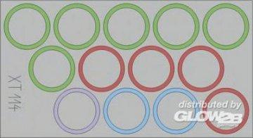 DUKW Wheel Mask · EDU XT114 ·  Eduard · 1:35