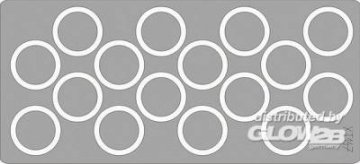 Hetzer wheel masks für Tamiya Bausatz · EDU XT147 ·  Eduard · 1:35