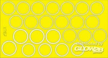 TigerI init. prod. - Wheel masks [Tamiya] · EDU XT157 ·  Eduard · 1:35