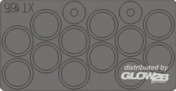 BMP-3 - Wheel masks [Trumpeter] · EDU XT165 ·  Eduard · 1:35