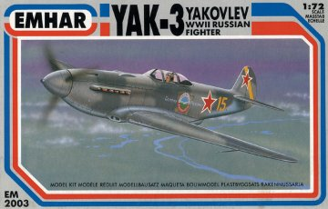 YAK-3 Yakovlev Russisches Jagdfkugzeug 2. Weltkrieg · EM 2003 ·  Emhar · 1:72