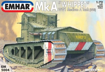 Whippet MkA Britischer Mittelschwerer Panzer · EM 5004 ·  Emhar · 1:72
