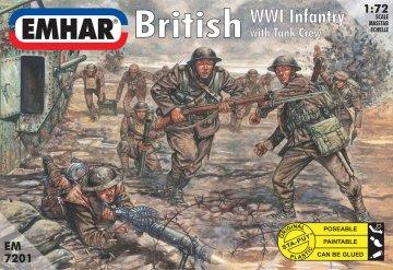 Britische Infanterie und Panzerbesatzung · EM 7201 ·  Emhar · 1:72