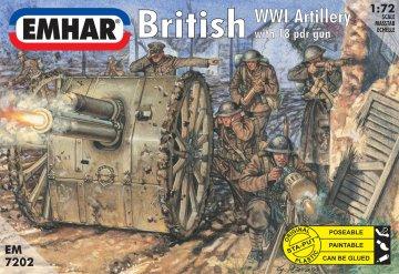Britische Artillerie mit 18-Pfünder-Kanone · EM 7202 ·  Emhar · 1:72