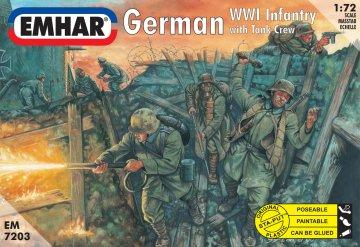 Deutsche Infanterie und Panzerbesatzung · EM 7203 ·  Emhar · 1:72