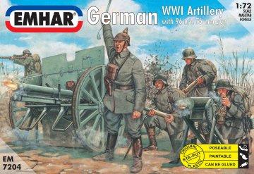 Deutsche Artillerie mit 77 mm Feldkanone · EM 7204 ·  Emhar · 1:72