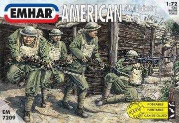 Amerikanische ´Doughboys´ Infanterie 1. Weltkrieg · EM 7209 ·  Emhar · 1:72